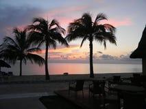 Cozumel sunset. June honeymoon Sunset in Cozumel mexico royalty free stock image