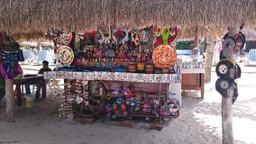 Cozumel vendor. Vendor on Cozumel beach stock photos