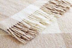 Cozy alpaca wool blanket Royalty Free Stock Photo