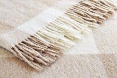 Cozy alpaca wool blanket Royalty Free Stock Photo