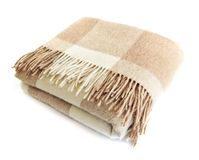 Cozy alpaca wool blanket Stock Images
