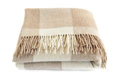 Cozy alpaca wool blanket Royalty Free Stock Images
