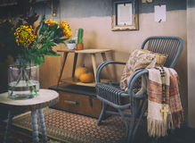 Cozy autumn interior Stock Photos