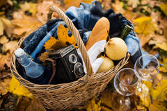 Cozy autumn picnic Stock Image