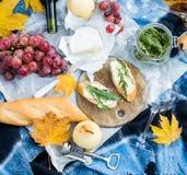 Cozy autumn picnic Royalty Free Stock Photo