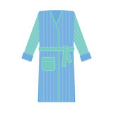 Cozy bathrobe vector illustration. Robe, nightwear Stock Image