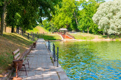Cozy and beautiful place to relax in the park Stock Photography