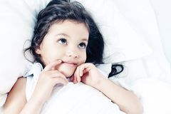 Cozy bed Royalty Free Stock Images