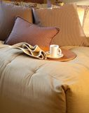Cozy Bedroom. With a nice cup of coffee Royalty Free Stock Image