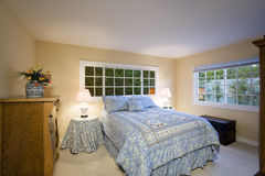 Cozy Bedroom in Home Royalty Free Stock Image