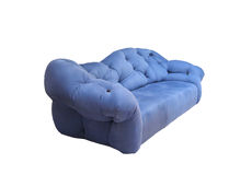 Cozy blue sofa or armchair Royalty Free Stock Photography