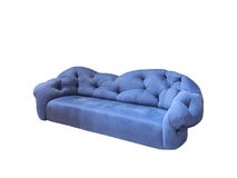 Cozy blue sofa or armchair Royalty Free Stock Image
