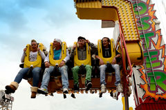 Cozy in the Booster at the fair in Volendam,Holland Royalty Free Stock Photography