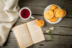 Cozy breakfast with freshly baked scones Stock Photography