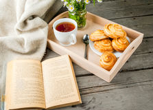 Cozy breakfast with freshly baked scones Royalty Free Stock Image