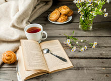 Cozy breakfast with freshly baked scones Royalty Free Stock Photography