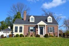Cozy Brick Home Royalty Free Stock Photo