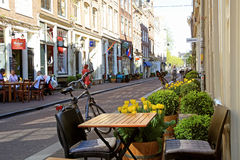 Cozy cafe in Nine street district, Amsterdam Stock Photos
