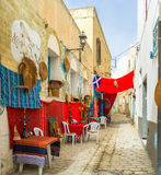 The cozy cafe in Sousse Stock Image