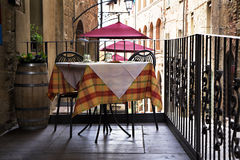 The cozy cafe on the street in Italy Royalty Free Stock Image