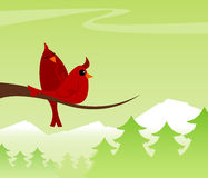 Cozy Cardinals stock illustration