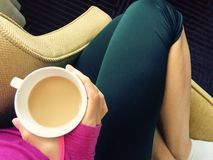 Free Cozy Chair, Coffee Cup, Cuddle Spot, At An Angle Royalty Free Stock Photo - 161300265