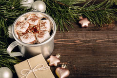 Cozy Christmas background with copy space Stock Photo