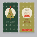 Cozy christmas card with best wishes Stock Image