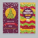 Cozy christmas card with best wishes Royalty Free Stock Images