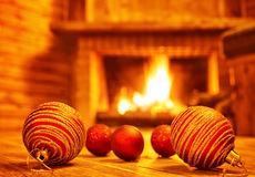 Cozy Christmas eve at home Stock Photo