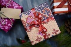 Cozy christmas gifts Stock Image