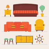 Cozy comfortable modern loft living room Royalty Free Stock Photography