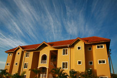 Cozy condominium house on Caribbean Royalty Free Stock Images