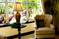 Cozy Corner. With garden view Stock Photography