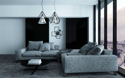 Cozy corner in a modern sitting room Royalty Free Stock Photo