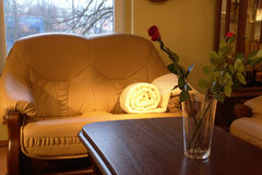 Cozy couch in the living room royalty free stock photos
