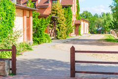 Cozy courtyard houses Royalty Free Stock Photography