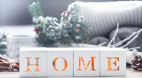 Cozy home decoration stock photography