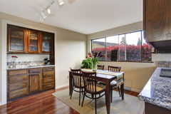 Cozy dining area in kitchen room Stock Photography