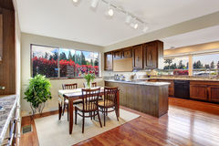 Cozy dining area in kitchen room Stock Photo