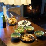 Cozy Dinner stock photography
