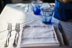 Cozy dinner table Royalty Free Stock Image