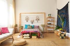 Cozy ethnic ethereal apartment interior Stock Photo