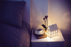 Cozy evening bedroom Royalty Free Stock Photo