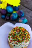 Cozy festive food on the day of the resurrection of Jesus.  royalty free stock photo