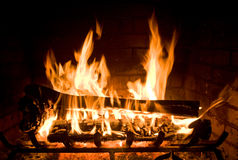 Cozy Fireplace Stock Photos