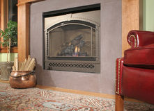 Cozy Fireplace Stock Photography