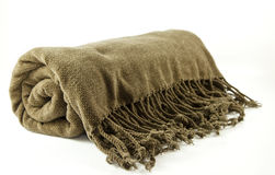 Cozy fringe blanket Stock Photos