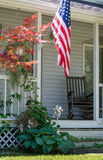 Cozy front porch in America Stock Photography