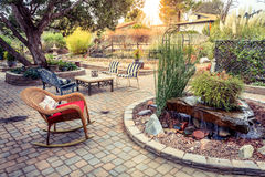Cozy garden royalty free stock image